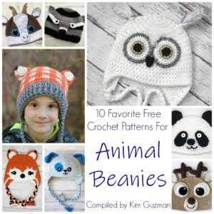 Link Blast: 10 Favorite Free Crochet Patterns for Animal Beanies