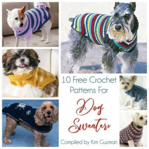 Link Blast: 10 Free Crochet Patterns for Dog Sweaters