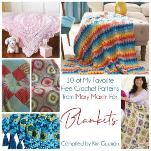 Link Blast: 10 Free Mary Maxim Crochet Patterns for Blankets Throws Afghans