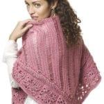 Friendship Broomstick Lace Shawl Free Crochet Pattern
