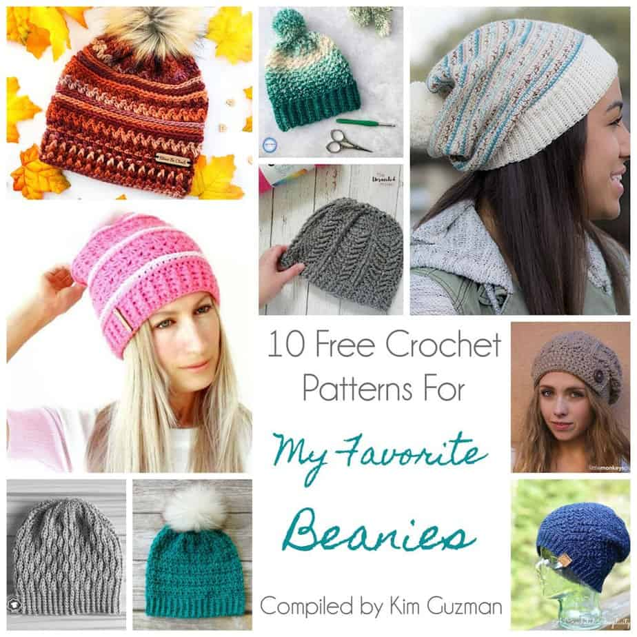 Link Blast: 10 Free Crochet Patterns for My Favorite Beanies