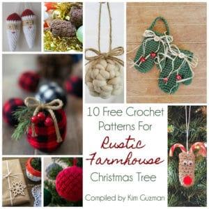 Link Blast: 10 Free Crochet Patterns for a Farmhouse Christmas Tree