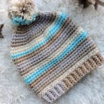 Basic Stripes Slouch Hat CrochetKim Free Crochet Pattern