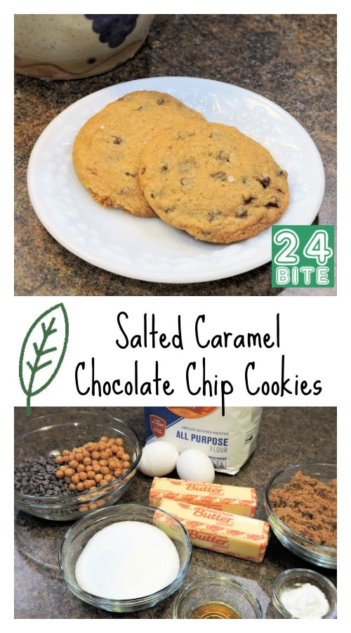 24Bite Recipe: Salted Caramel Chocolate Chip Cookies