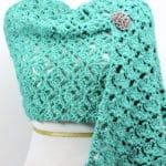 Emerald Lace Fling Wrap Free Crochet Pattern