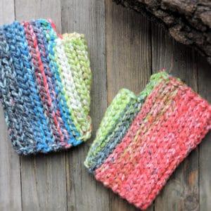 Last Minute Hopscotch Mitts CrochetKim Free Crochet Pattern