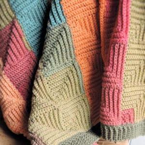 Patchwork Throw Free Crochet Pattern
