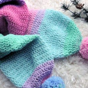Sparkle Double Thick Scarf CrochetKim Free Crochet Pattern