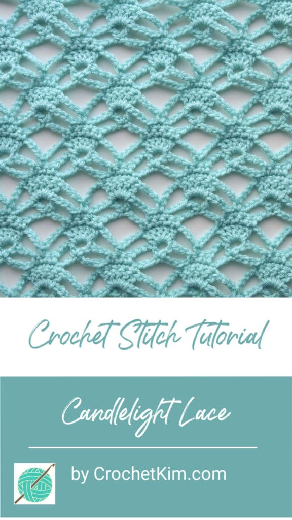 Candlelight Lace CrochetKim Free Crochet Stitch Tutorial