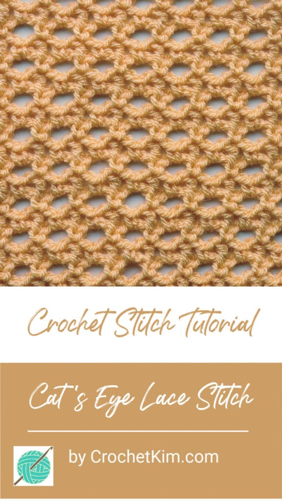 Cat's Eye Lace Free CrochetKim Crochet Stitch Tutorials