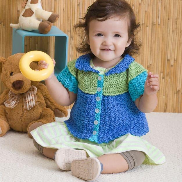 Color Block Cardi Free Crochet Pattern