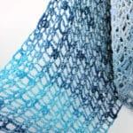 Denim Blues Fling Wrap Easy CrochetKim Free Crochet Pattern