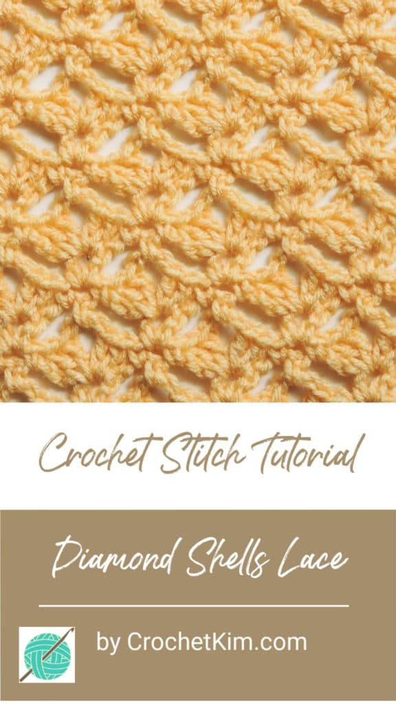 Diamond Shells Lace CrochetKim Free Crochet Stitch Tutorial