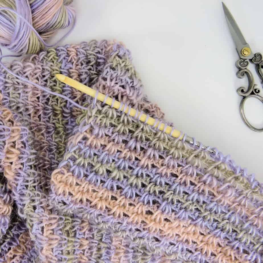Eternal Spring Infinity Scarf CrochetKim Free Tunisian Crochet Pattern