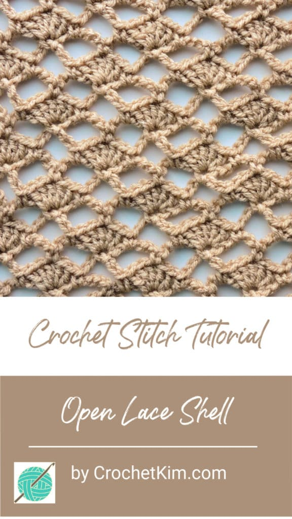 Open Lace Shell CrochetKim Free Crochet Stitch Tutorial