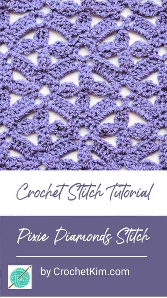 Pixie Diamonds CrochetKim Free Crochet Stitch Tutorial