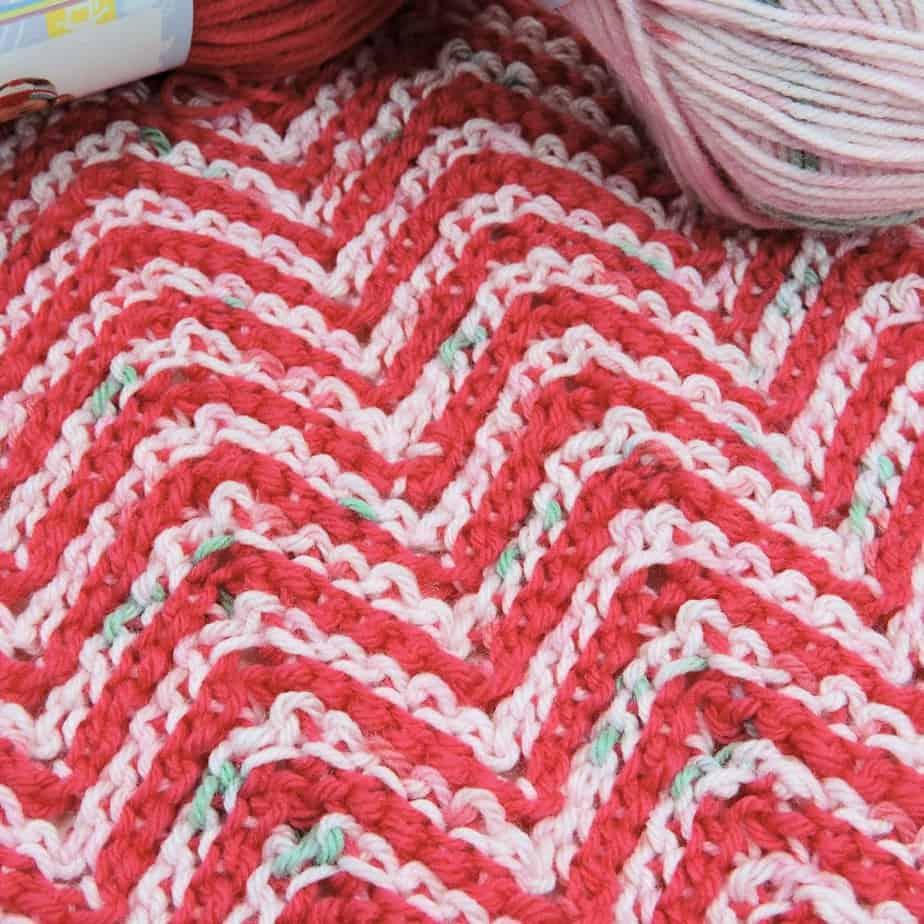 Ripple Candy Baby Blanket CrochetKim Free Tunisian Crochet Pattern