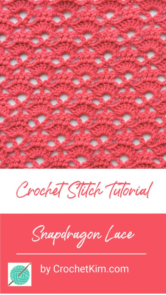 Snapdragon Lace CrochetKim Free Crochet Stitch Tutorial