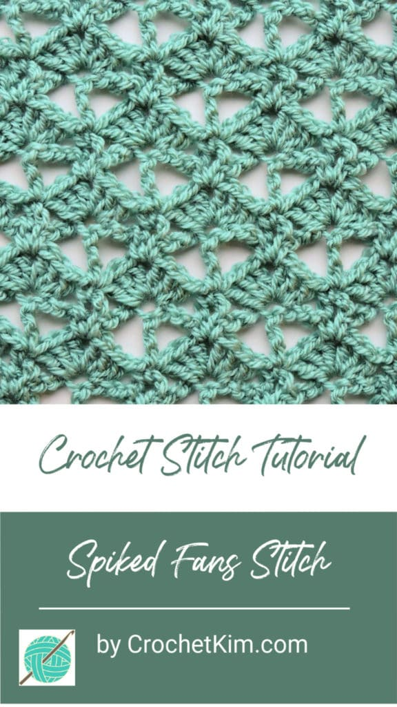Spiked Fans CrochetKim Free Crochet Stitch Tutorial