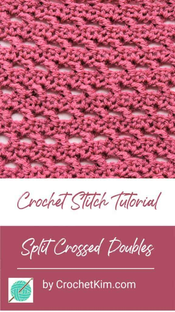 Split Crossed Doubles Free Crochet Stitch Tutorial