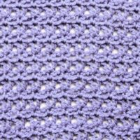V Stitch Lace Free Crochet Stitch Tutorial