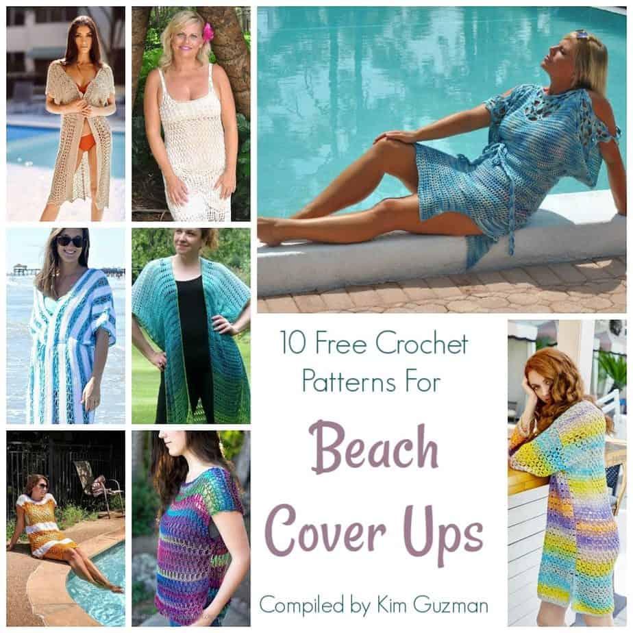 10 Free Crochet Patterns For Beach Cover Ups Crochetkim