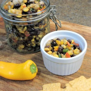 24Bite Recipe: Black Beans and Corn Salsa