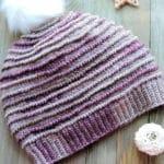 Garter Ridge Beanie Free Crochet Pattern