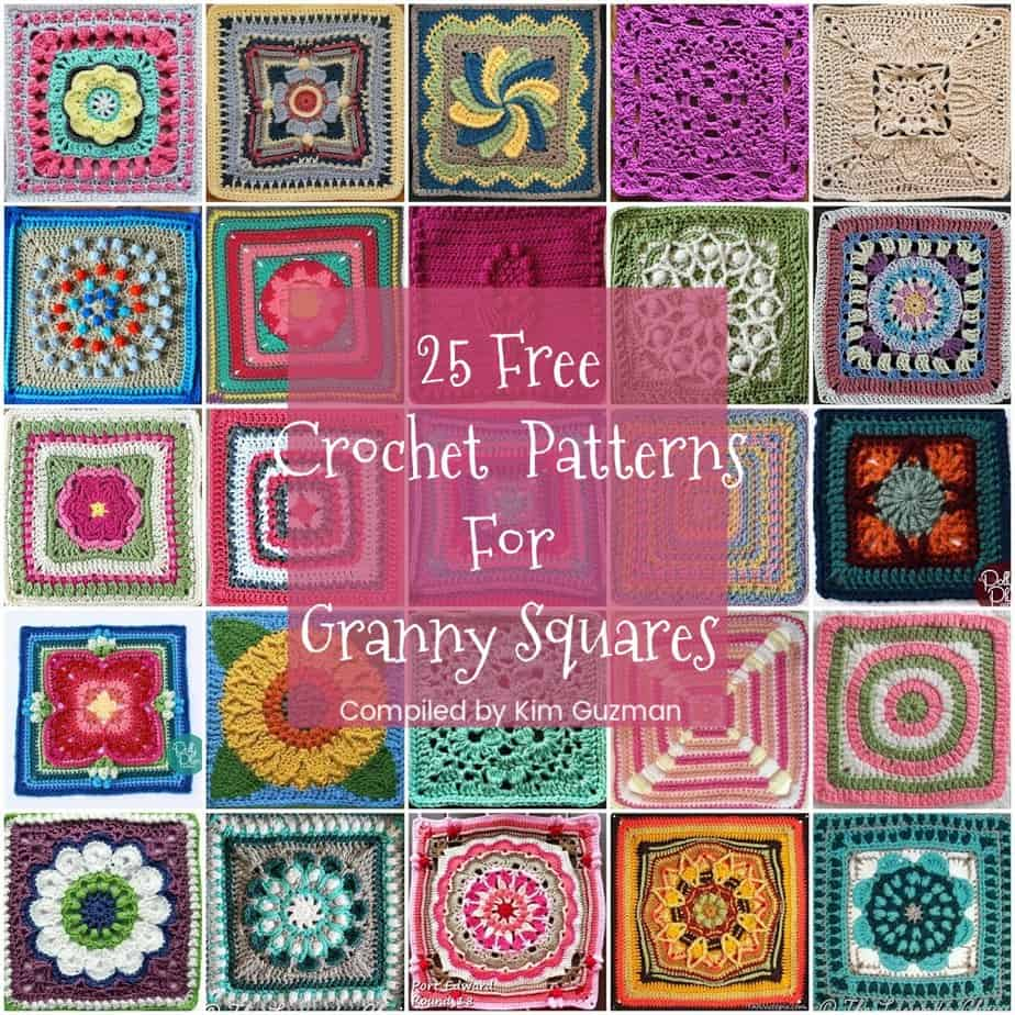 Link Blast: 25 Free Crochet Patterns for Granny Squares