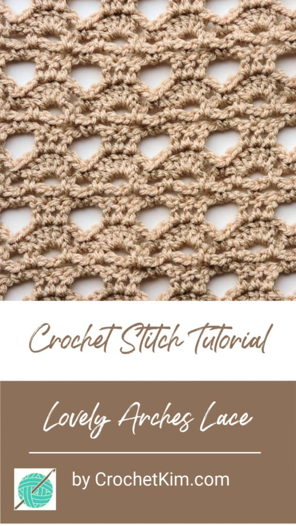 Lovely Arches CrochetKim Free Crochet Stitch Tutorial