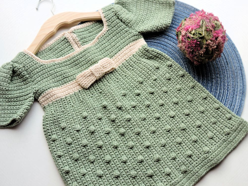 Spring Party Girl Dress CrochetKim Free Crochet Pattern