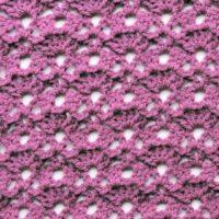 Staggered Fans CrochetKim Free Crochet Stitch Tutorial