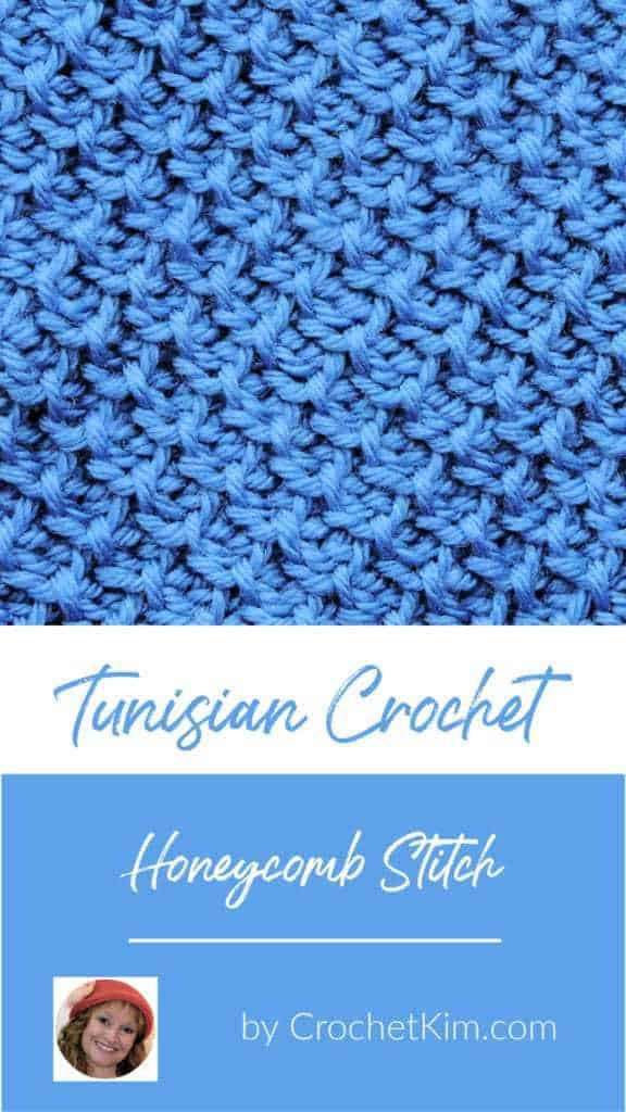 Tunisian Honeycomb Stitch CrochetKim Crochet Stitch Tutorial