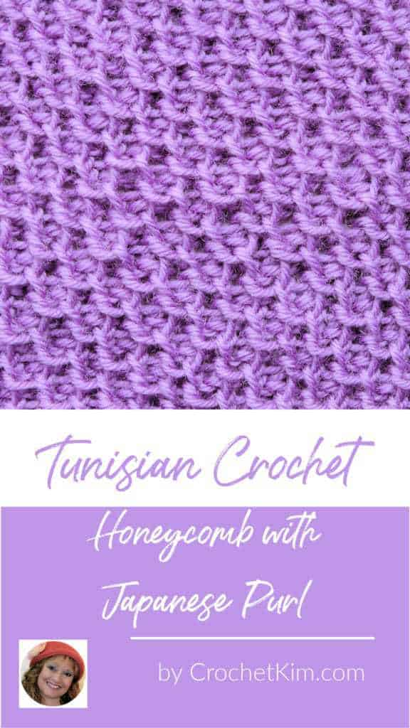 Tunisian Honeycomb Stitch with Japanese Purl CrochetKim Crochet Stitch Tutorial