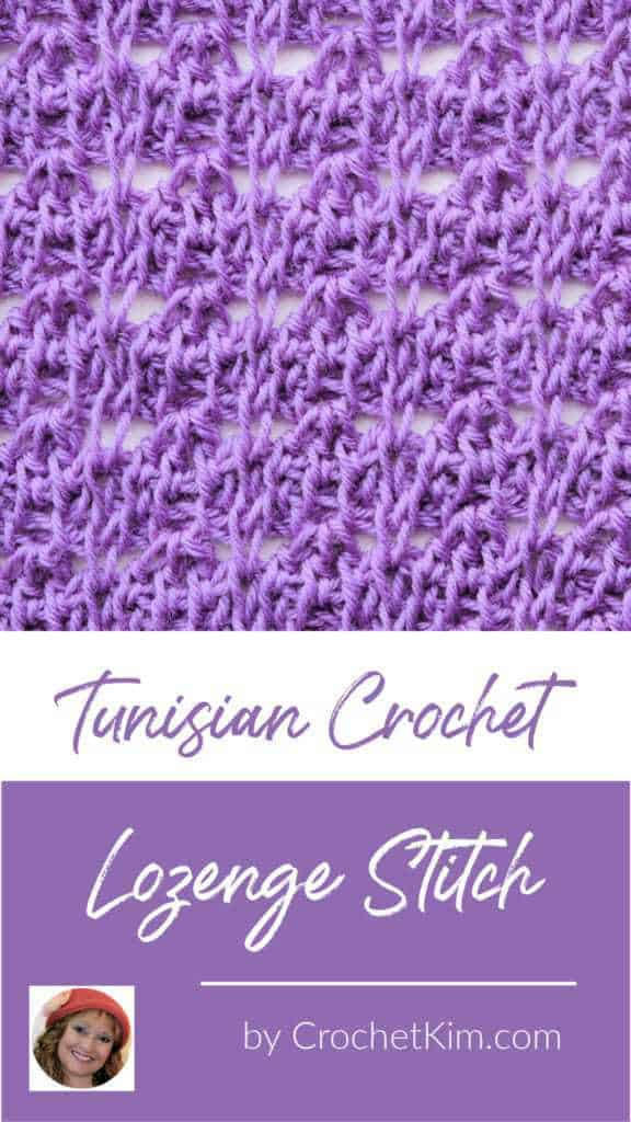 Tunisian Lozenge Stitch CrochetKim Crochet Stitch Tutorial