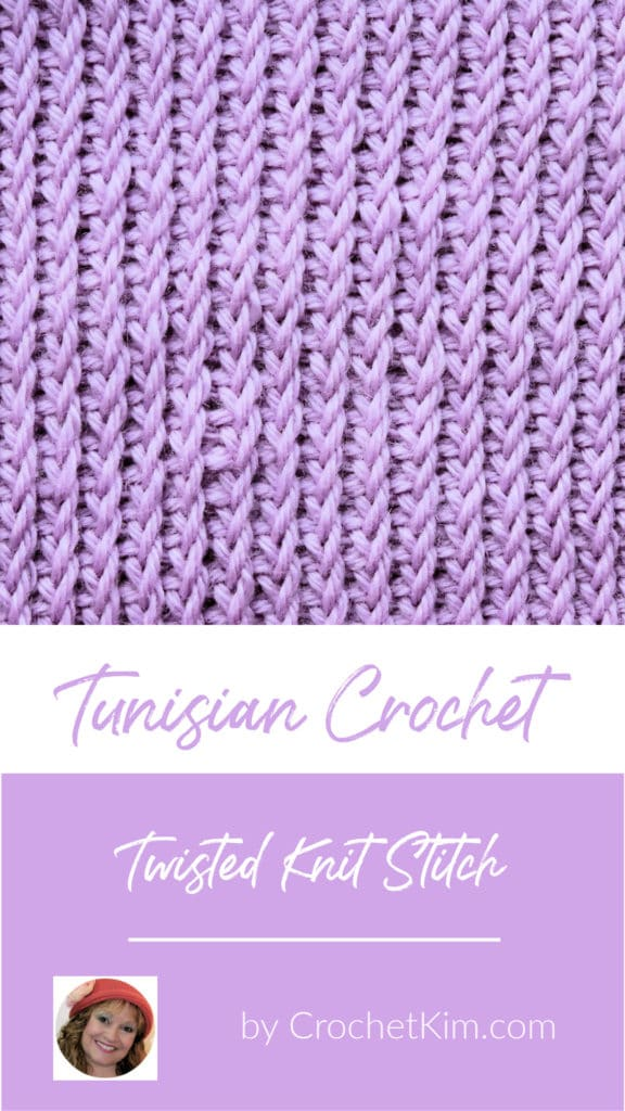 Tunisian Twisted Knit Stitch CrochetKim Crochet Stitch Tutorial