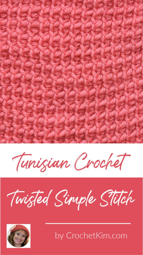 Tunisian Twisted Simple Stitch CrochetKim Crochet Stitch Tutorial