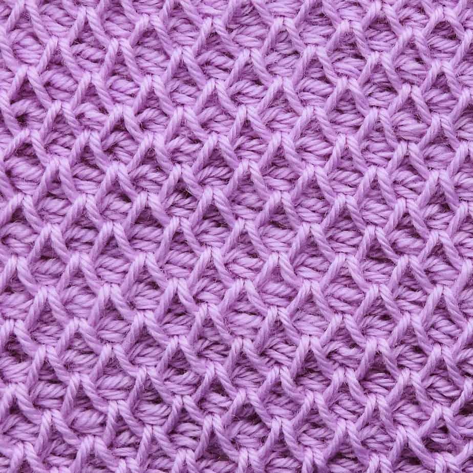 Tunisian Smock Stitch CrochetKim Crochet Stitch Tutorial