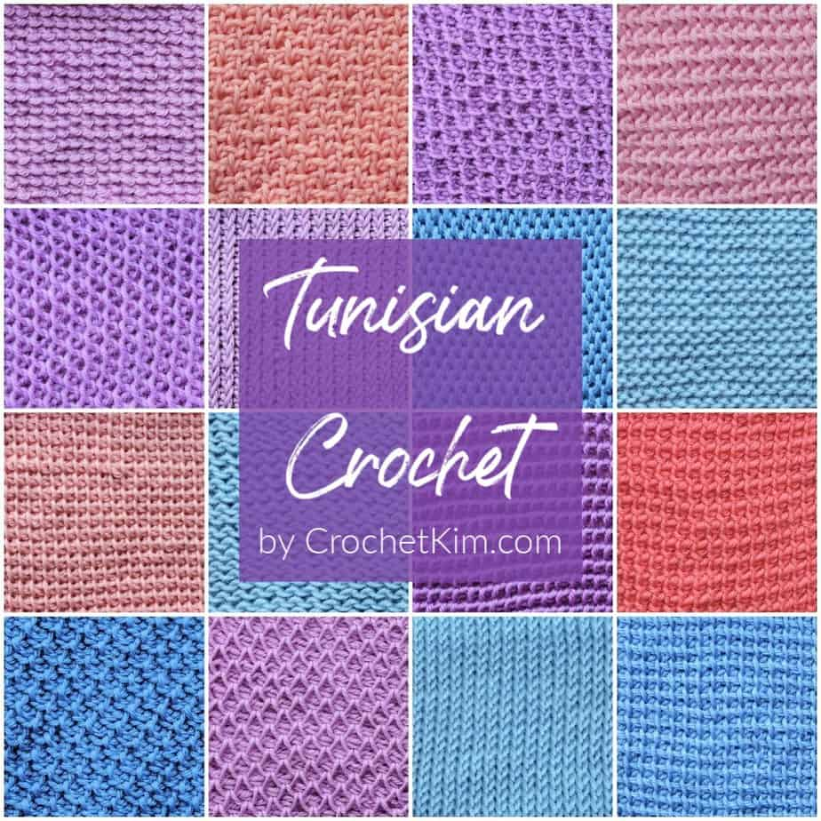 Learn Tunisian crochet with Kim Guzman. Written text and chart symbol instructions. Over four hours of free online videos.