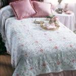 Rosebuds in the Snow Bedspread Free Crochet Pattern