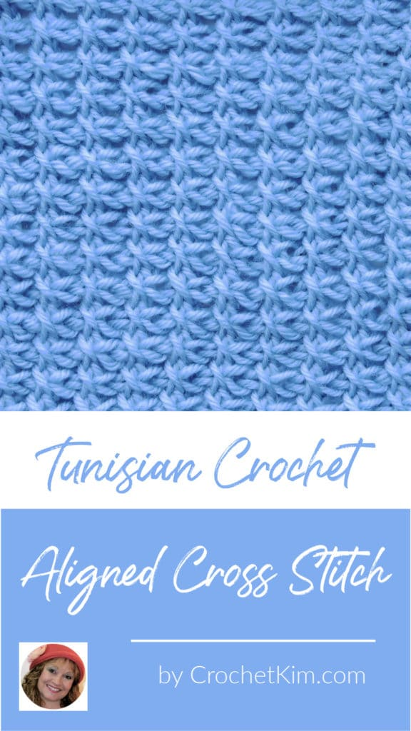 Tunisian Aligned Cross Stitch CrochetKim Crochet Stitch Tutorial