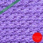 Tunisian Grapevine Stitch Crochet Stitch Tutorial
