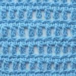 Tunisian Aligned Clusters Crochet Stitch Tutorial