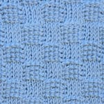 Tunisian Basketweave Ver. 2 Knit and Reverse Crochet Stitch Pattern