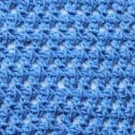 Tunisian Offset Crossed Doubles Crochet Stitch Tutorial