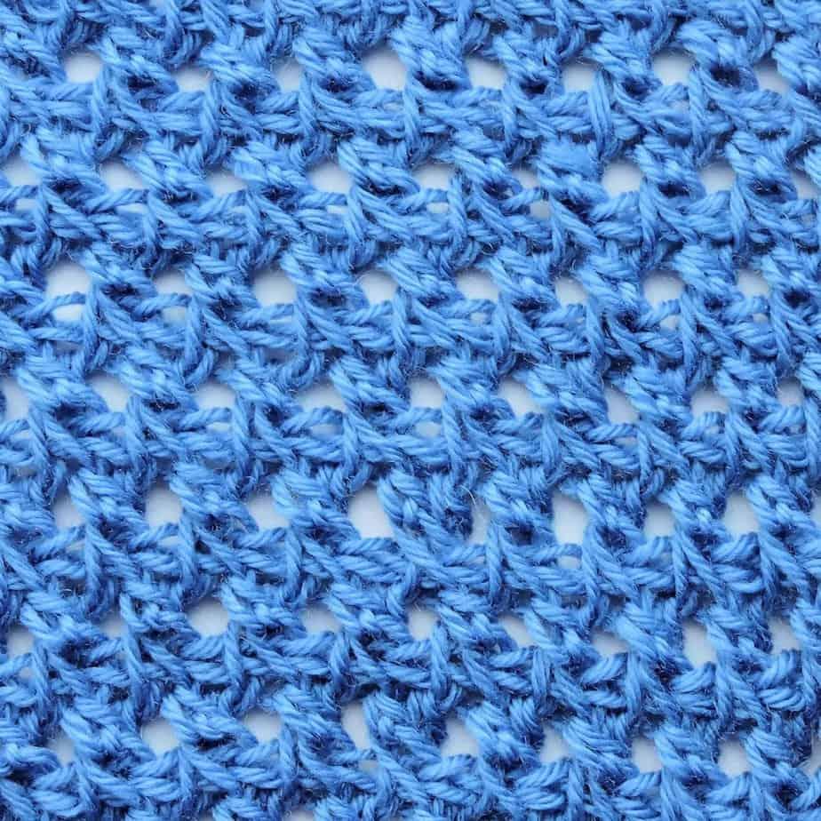 Tunisian Offset Crossed Doubles CrochetKim Crochet Stitch Tutorial