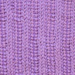 Tunisian Knit Reverse Ribbing 2x2 Crochet Stitch Pattern