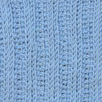 Tunisian Knit Reverse Ribbing 3x1 Crochet Stitch Pattern