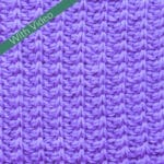 Tunisian Simple Stitch Rib Crochet Stitch Tutorial