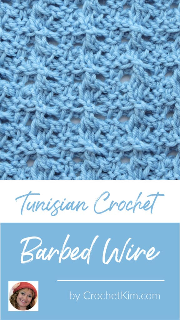 Tunisian Barbed Wire CrochetKim Crochet Stitch Tutorial